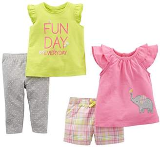 Carter's Simple Joys by Girls' 4-Piece Playwear Set