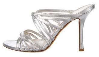 Christian Dior Metallic Cage Sandals