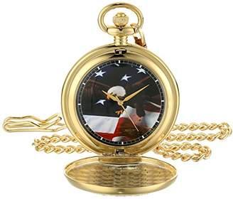 EWatchFactory EW Men's Flag Eagle Pkt' Quartz Metal Pocket Watch