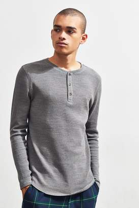Urban Outfitters Waffle Foundation Thermal Henley Shirt