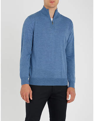 Canali Zipped wool jumper