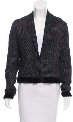 CNC Costume National Lightweight Metallic Thread Jacket