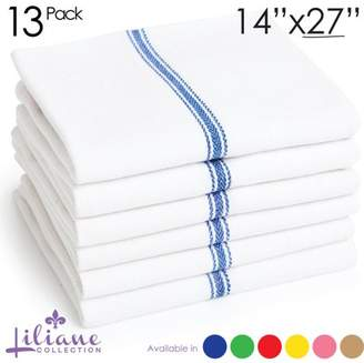 Liliane Collection Kitchen Towels, Set of 13, Restaurant Quality, Multiple Colors Available