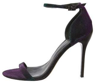 Brian Atwood Iridescent Ankle-Strap Sandals