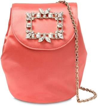 Roger Vivier Trianon Mini Satin Backpack W/ Crystals