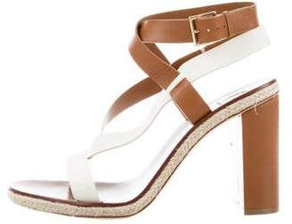 Tory Burch Leather Espadrille Sandals