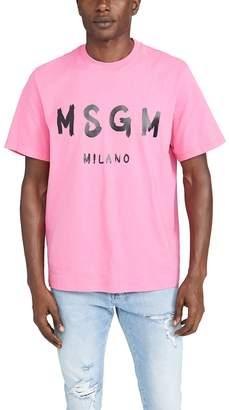 MSGM Milano Logo Tee Shirt