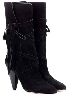 Veronica Beard Hall suede boots