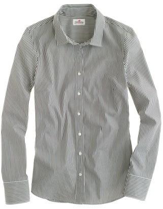 Women's J.crew Perfect Classic Stripe Stretch Cotton Shirt