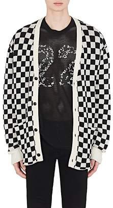 Amiri Men's Checkered Cashmere Oversized Cardigan