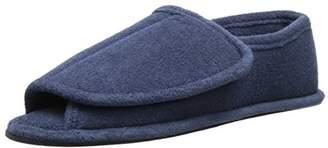 Muk Luks Men's Terry Adjustable Open Toe Full Foot Slipper