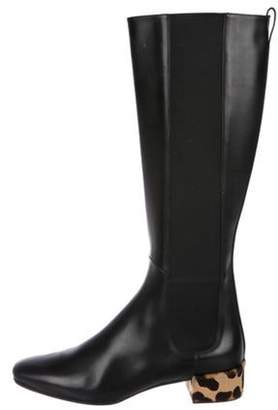 Francesco Russo Leather Knee-High Boots Black Leather Knee-High Boots