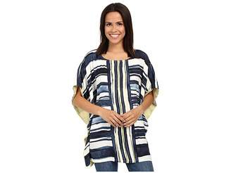 Miraclebody Jeans Tonya Woven Tunic w/ Body-Shaping Inner Shell Women's Short Sleeve Pullover
