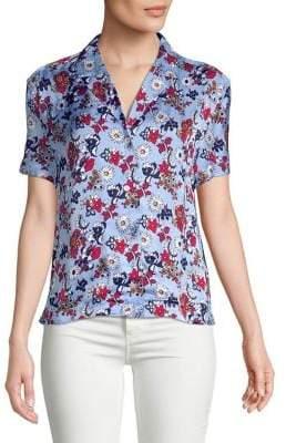 Calvin Klein Jeans Floral Button-Down Blouse