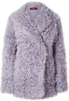 Pippa Sies Marjan Shearling Coat - Lilac