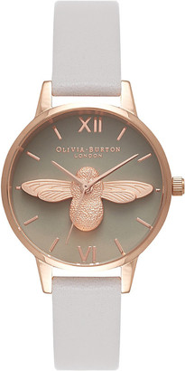 Olivia Burton OB15AM77 Moulded Bee leather and gold watch