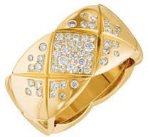 Chanel Coco Crush Ring In 18k Yellow Gold & Diamonds, Medium Version