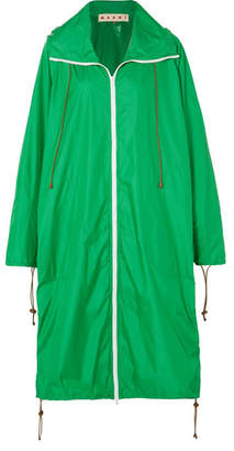 Marni Hooded Shell Raincoat - Green