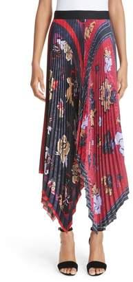 Yigal Azrouel Pleated Handkerchief Hem Skirt