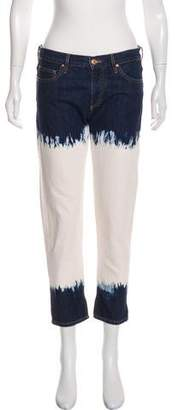 Etoile Isabel Marant Distressed Mid-Rise Straight-Leg Jeans