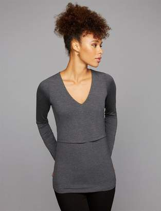 A Pea in the Pod Lift Up Mock Layer Nursing Top