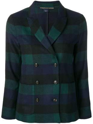 Woolrich short checkered blazer