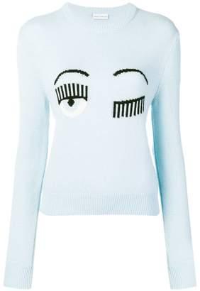 Chiara Ferragni wink sweater