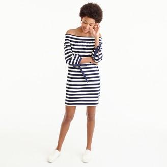 Striped off-the-shoulder dress $98 thestylecure.com
