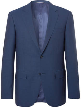 Canali Navy Slim-Fit Super 140s Wool Suit Jacket