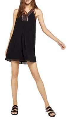 BCBGeneration Sleeveless Embroidered A-Line Dress