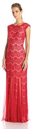 Betsy & Adam Women's Lace Sleeveless Mesh Gown $123.11 thestylecure.com