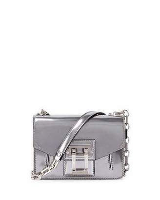 Proenza Schouler Hava Sparkling Metallic Leather Crossbody Bag, Silver $1,290 thestylecure.com
