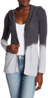Couture Go Tie Dye Hooded Knit Cardigan