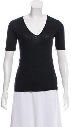 Rag & Bone Mesh-Paneled V-Neck T-Shirt