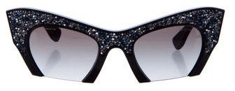 Miu Miu Miu Miu Embellished Cat-Eye Sunglasses