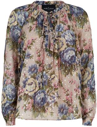 Needle & Thread Painted Rose Blouse