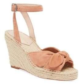 Loeffler Randall Women's Tessa Bow Espadrille Wedge Ankle Strap Sandals - Coral - Size 5