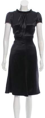 Armani Collezioni Silk Embellished Dress