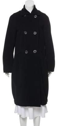 Zero Maria Cornejo Double-Breasted Knee-Length Coat
