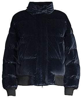 The Kooples Women's Velvet Down Quilted Puff Jacket