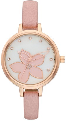 Women's Crystal Accent Flower Watch