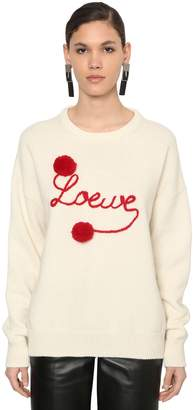 Loewe LOGO EMBROIDERED WOOL KNIT SWEATER