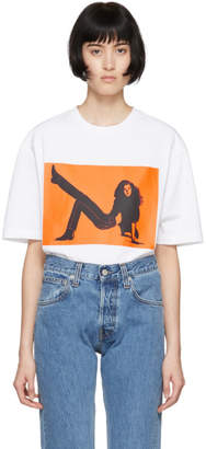 Calvin Klein Jeans Est. 1978 White and Orange Icon Printed T-Shirt