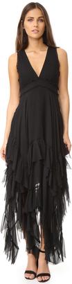 alice + olivia Brynn Handkerchief Ruffle Gown $795 thestylecure.com