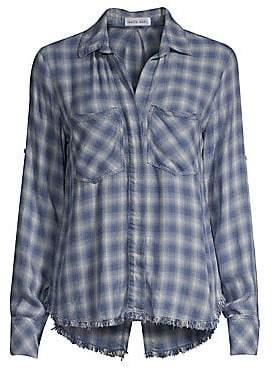 Bella Dahl Women's Plaid Raw-Hem Button-Down Shirt