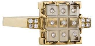 Madstone 18K Diamond and Prasiolite Ring