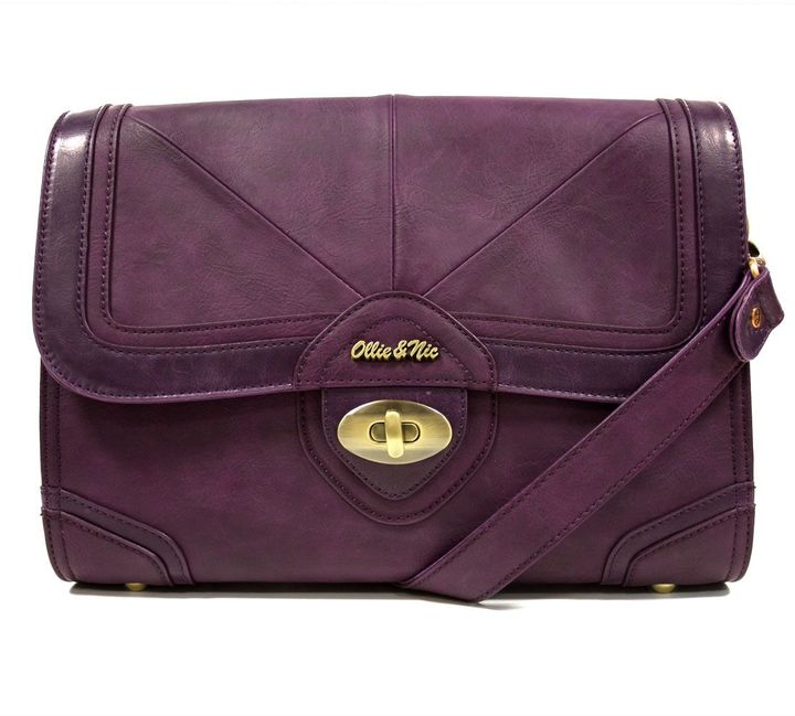 Ollie & Nic Queensbury Two Tone Flap Bag (Purple)