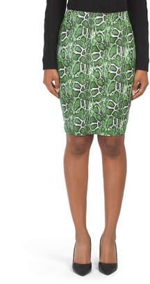 Juniors Snake Bandage Skirt