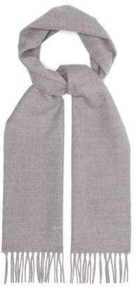 Lanvin Wool Scarf - Mens - Grey