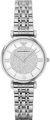Emporio Armani AR1925 Women's Crystal Bracelet Strap Watch, Silver/White